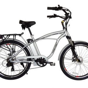 Kona Electric Beach Cruiser Bicycle - 36 Volt Lithium Powered - Silver 4
