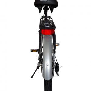 Kona Electric Beach Cruiser Bicycle - 36 Volt Lithium Powered - Silver Rear