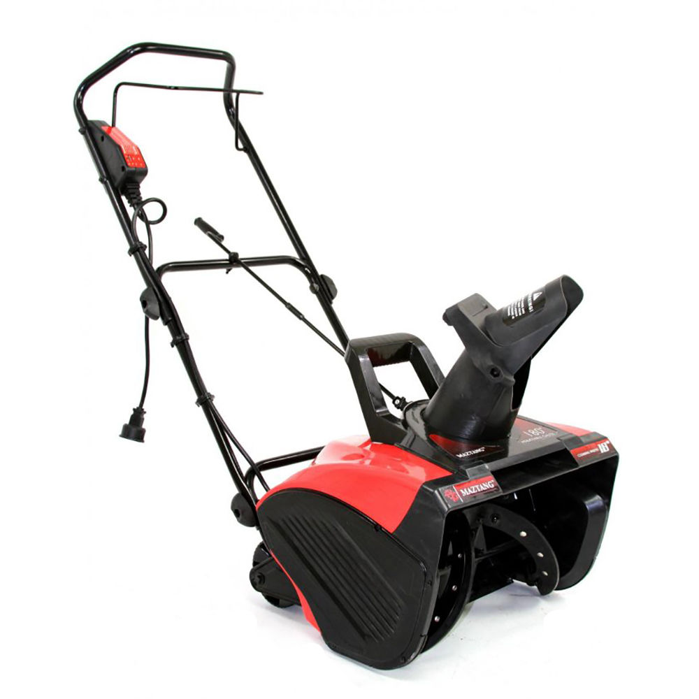 Electric Snow Blower : Maztang inch electric snow blower amp