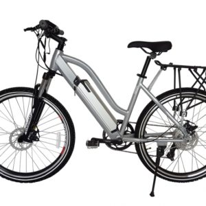Sedona 36 Volt Lithium Powered Electric Step-Through Mountain Bicycle - Silver 2