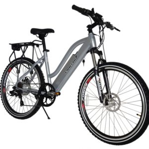 Sedona 36 Volt Lithium Powered Electric Step-Through Mountain Bicycle - Silver 3
