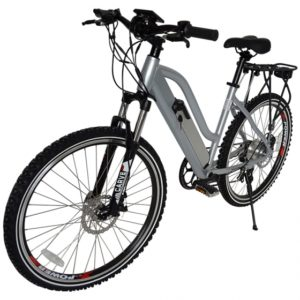 Sedona 36 Volt Lithium Powered Electric Step-Through Mountain Bicycle - Silver