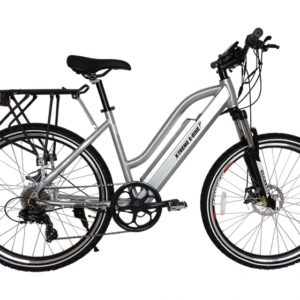 Sedona 36 Volt Lithium Powered Electric Step-Through Mountain Bicycle - Silver 4