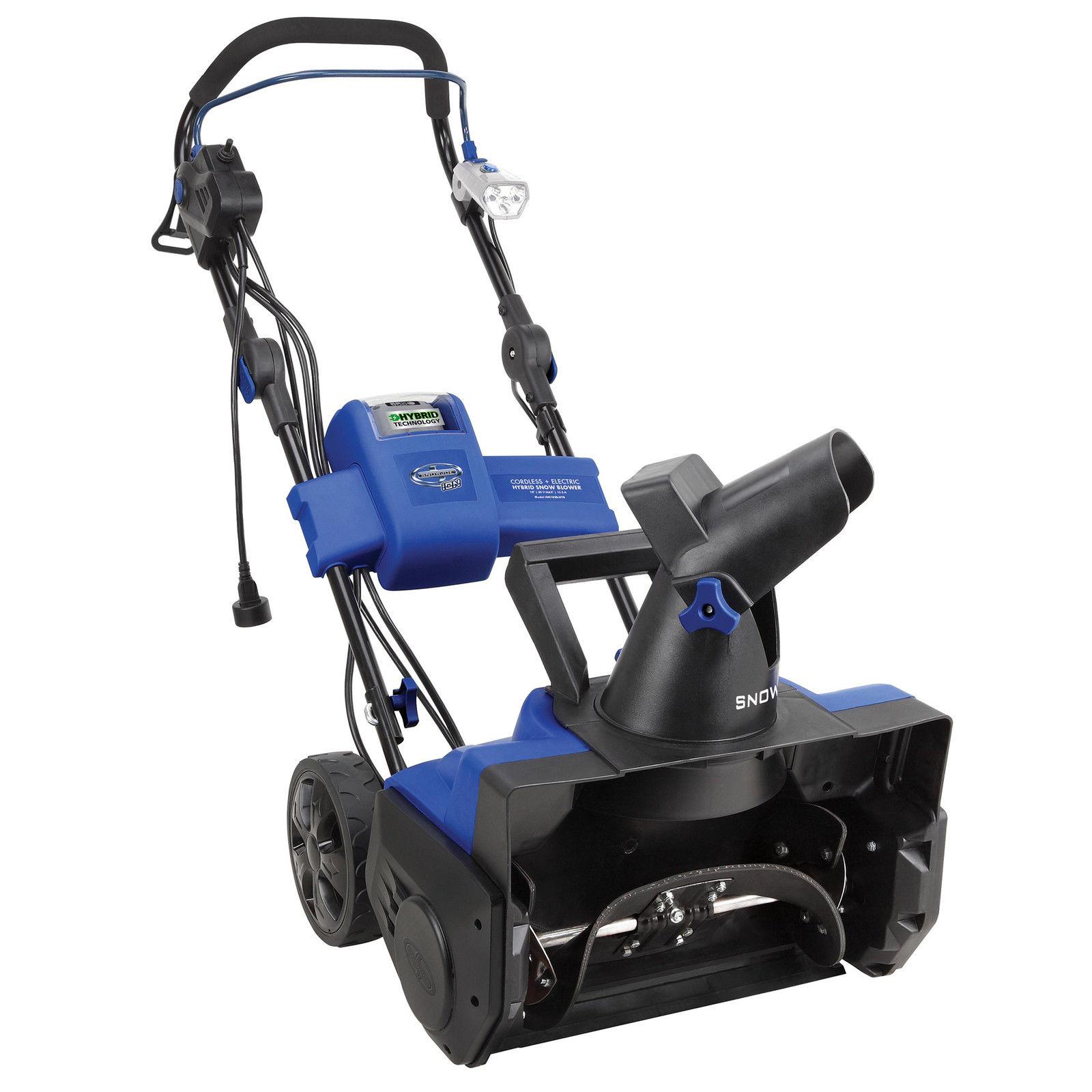 Electric Snow Blower : Snow joe hybrid cordless electric blower inch