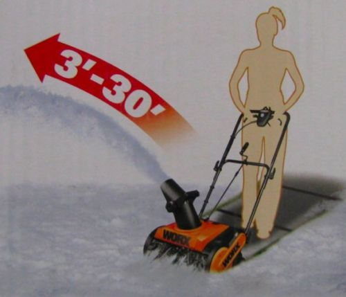 Worx 18 Inch Electric Snow Thrower 7