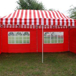 10 x 20 Red Stripe Pop Up Tent Canopy Gazebo 3