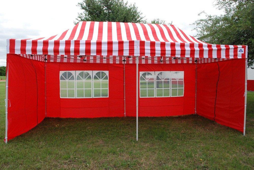 10 x 20 Red Stripe Pop Up Tent Canopy Gazebo 3 & 10 x 20 Red Stripe Pop Up Tent Canopy Gazebo -