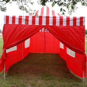 10 x 20 Red Stripe Pop Up Tent Canopy Gazebo