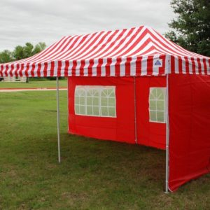 10 x 20 Red Stripe Pop Up Tent Canopy Gazebo 4