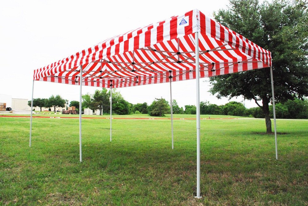 10 X 20 Red Stripe Pop Up Tent Canopy Gazebo 5
