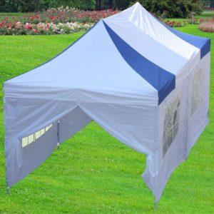 10 x 20 White & Blue Striped Tent