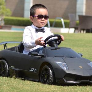 Kids Lamborghini Murcielago Power Wheel - Murcielago LP670 12v Black 2