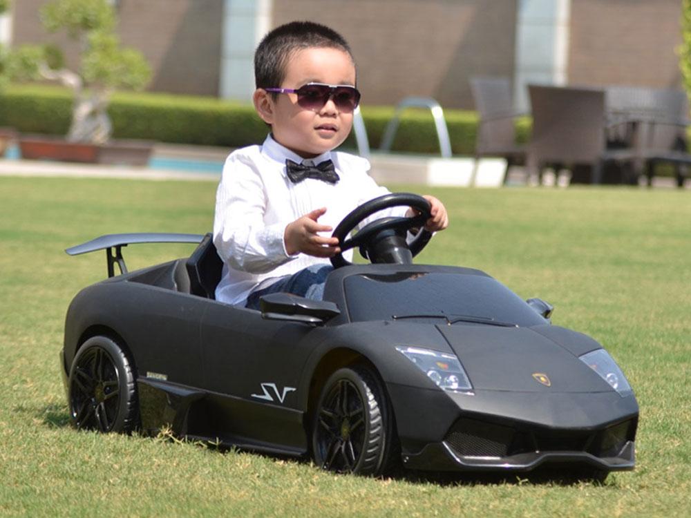 Kids Lamborghini Murcielago Power Wheel Black 12v Lp670