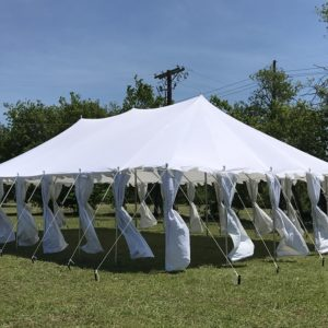 40 x 25 Pole Tent Canopy - White Polyester 2
