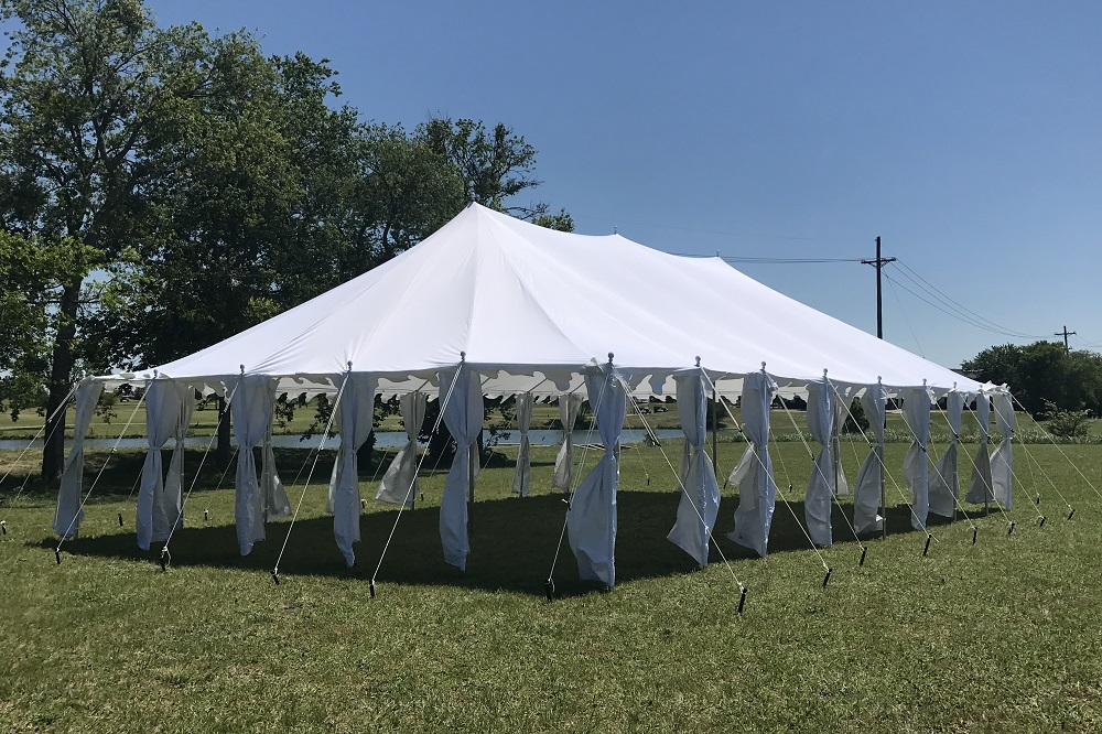 40 x 25 Pole Tent Canopy - White Polyester 3 & 40 x 25 Pole Tent Canopy - White Polyester -