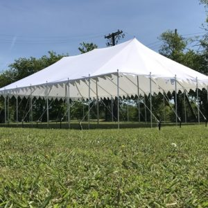 40 x 25 Pole Tent Canopy - White Polyester 4