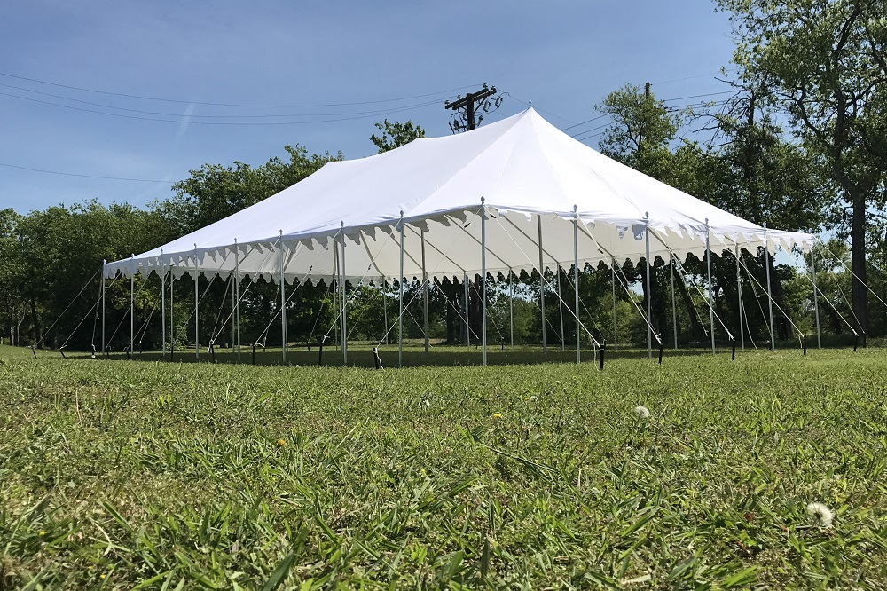 40 x 25 Pole Tent Canopy - White Polyester 4 & 40 x 25 Pole Tent Canopy - White Polyester -