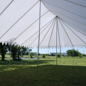 40 x 25 Pole Tent Canopy - White Polyester 5