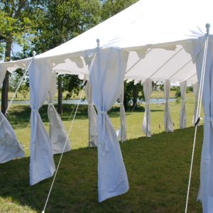 40 x 25 Pole Tent Canopy - White Polyester 6
