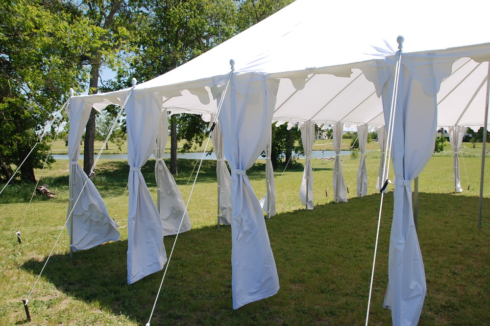 40 x 25 Pole Tent Canopy - White Polyester 6 & 40 x 25 Pole Tent Canopy - White Polyester -