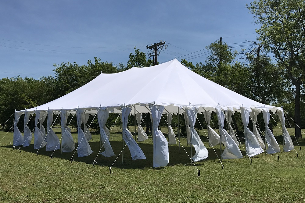 40 x 25 Pole Tent Canopy - White Polyester 2 & 40 x 25 Pole Tent Canopy - White Polyester -