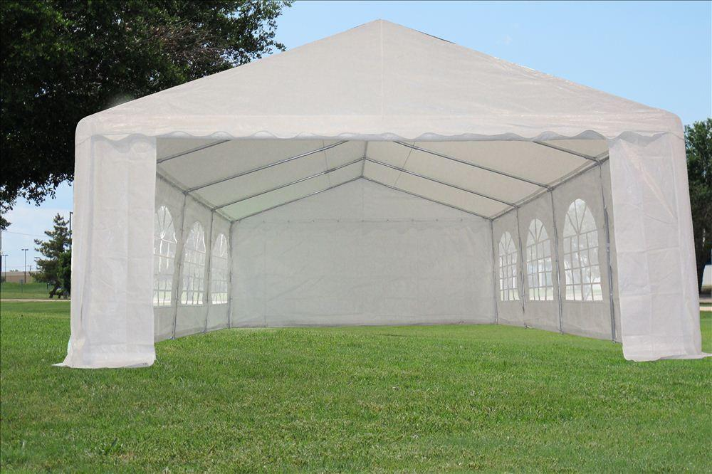 26 X 16 White Party Tent Canopy Gazebo