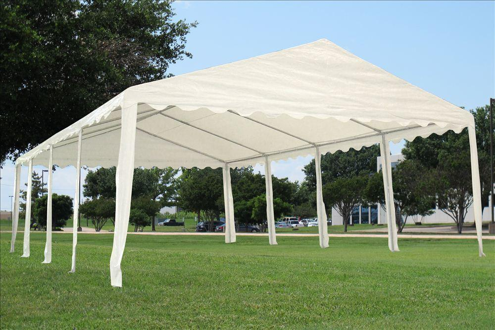 26 x 16 white party tent canopy gazebo. Black Bedroom Furniture Sets. Home Design Ideas