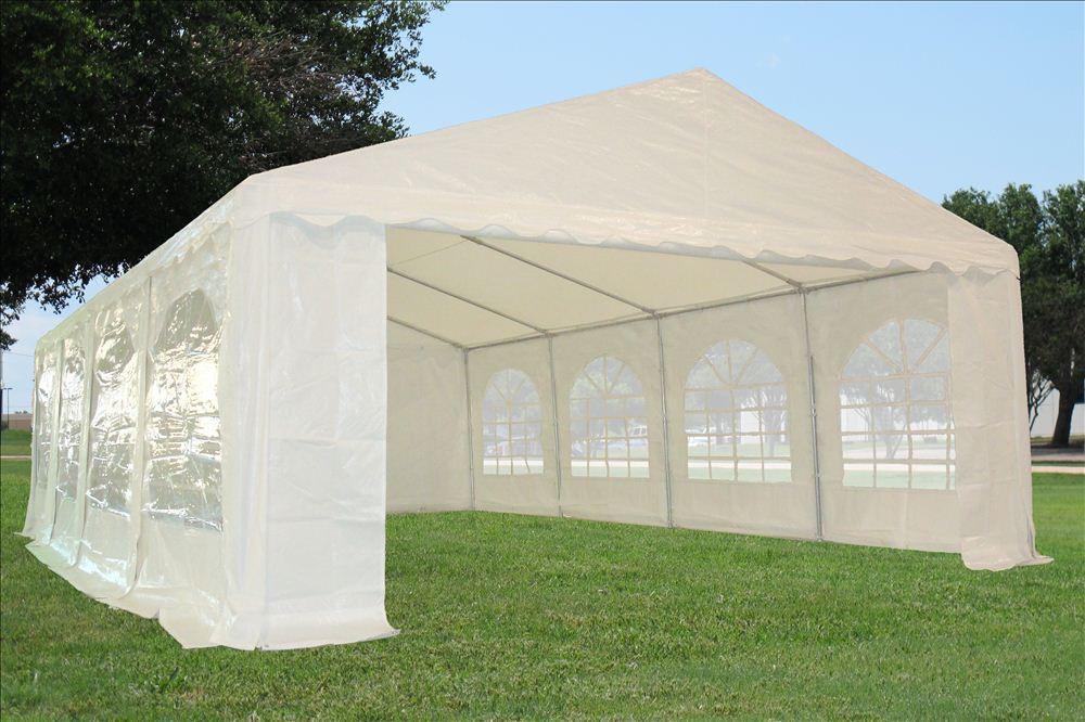 26 X 16 White Party Tent Canopy Gazebo