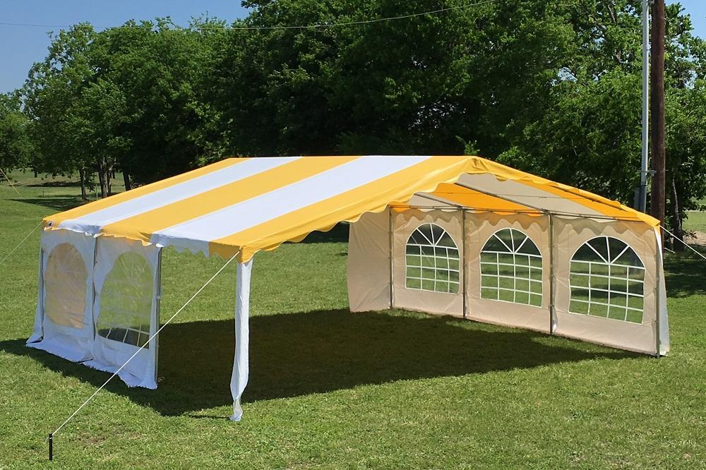 20 X 20 Budget Pvc Tent Canopy Gazebo 4 Colors
