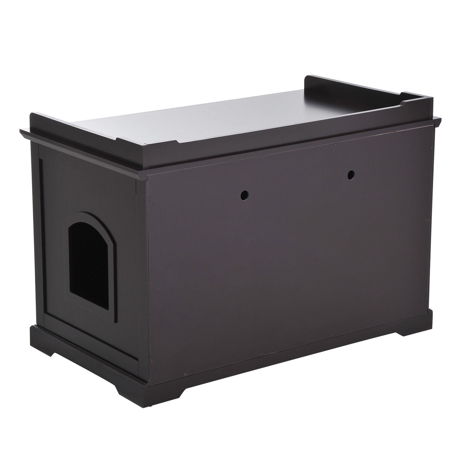 hidden kitty litter box bench enclosure hall end table cat. Black Bedroom Furniture Sets. Home Design Ideas