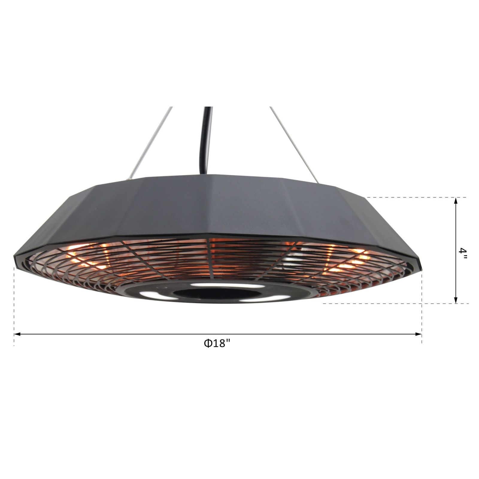 1500 Watt Ceiling Mounted Electric Heater With Remote