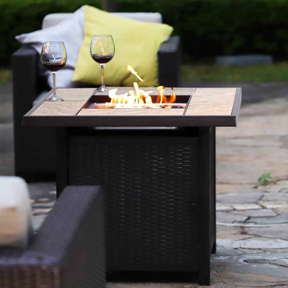 50,000 BTU Outdoor Propane Table Heater Gas Patio Fire Pit ...