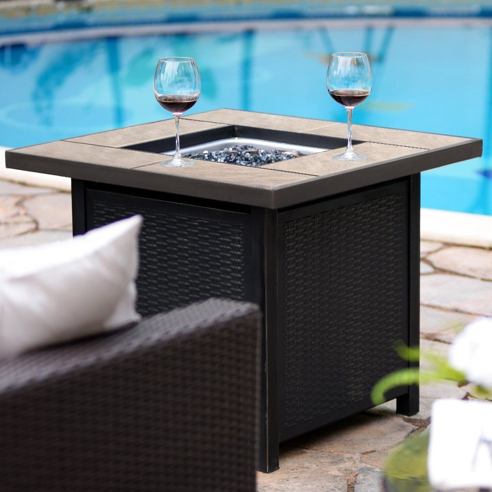 50 000 Btu Outdoor Propane Table Heater Gas Patio Fire Pit 32 Inch Square