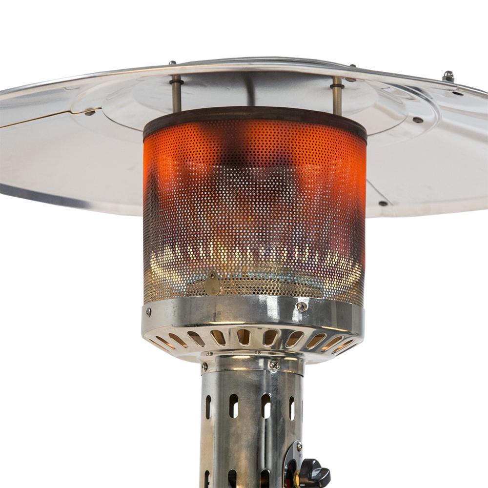 Tall Patio Heater Outdoor Standing Propane Gas Unit Mocha