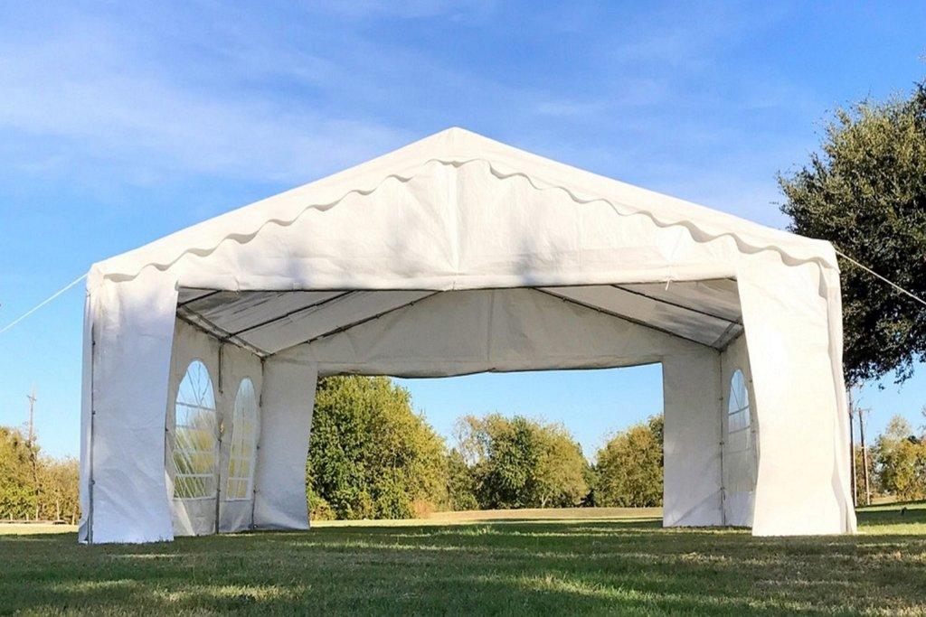 20 X 16 Budget Tent Gazebo Pe Canopy Waterproof Top