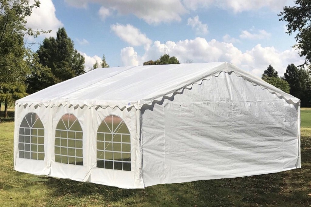 20 X 16 Budget Tent Gazebo Pe Canopy Waterproof Top