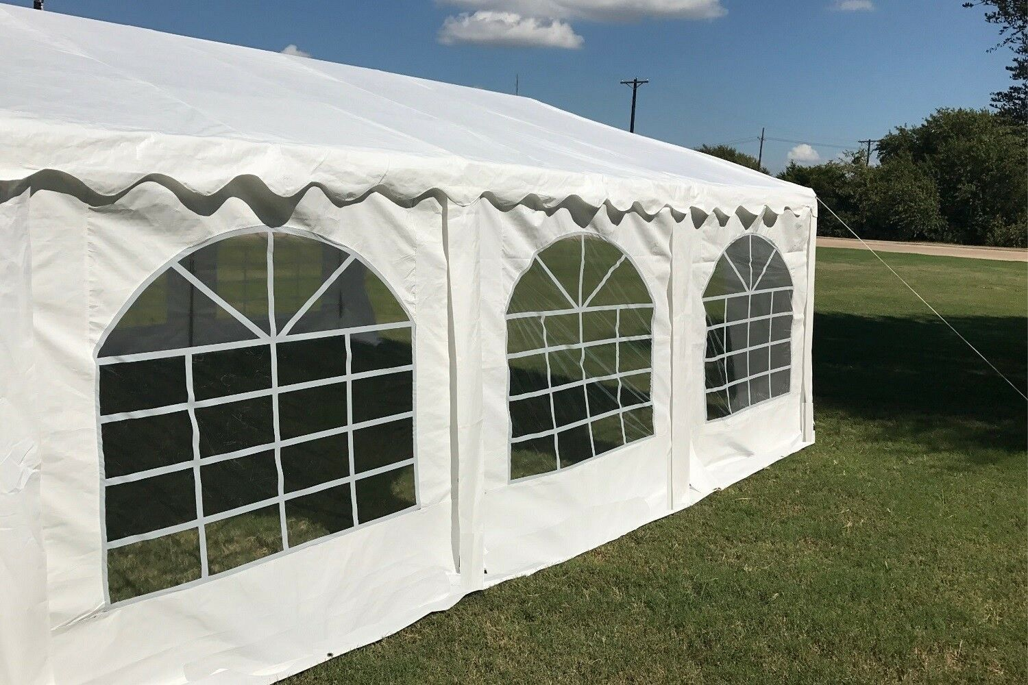 20 x 20 budget party tent canopy gazebo white. Black Bedroom Furniture Sets. Home Design Ideas