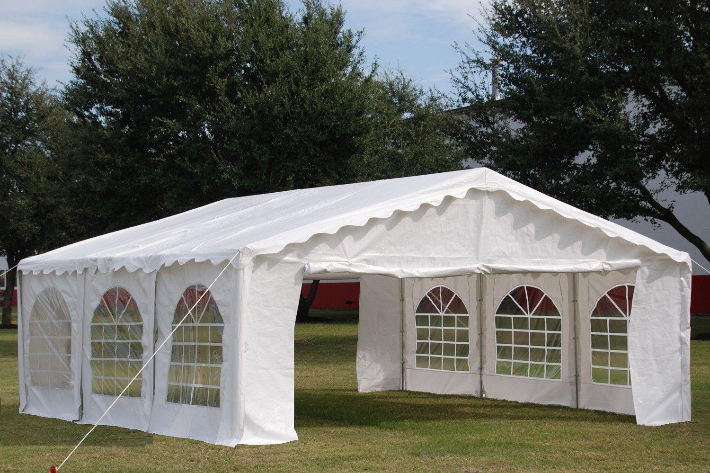 20 X 20 Budget Party Tent Canopy Gazebo White