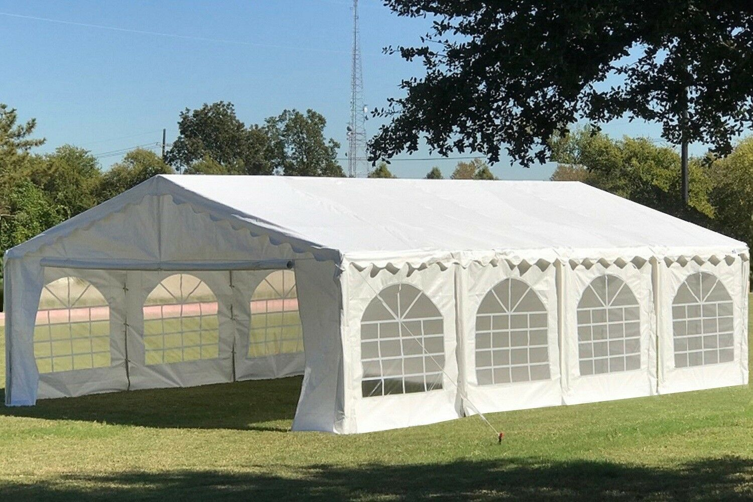 26 X 20 Budget Party Tent Canopy Gazebo White