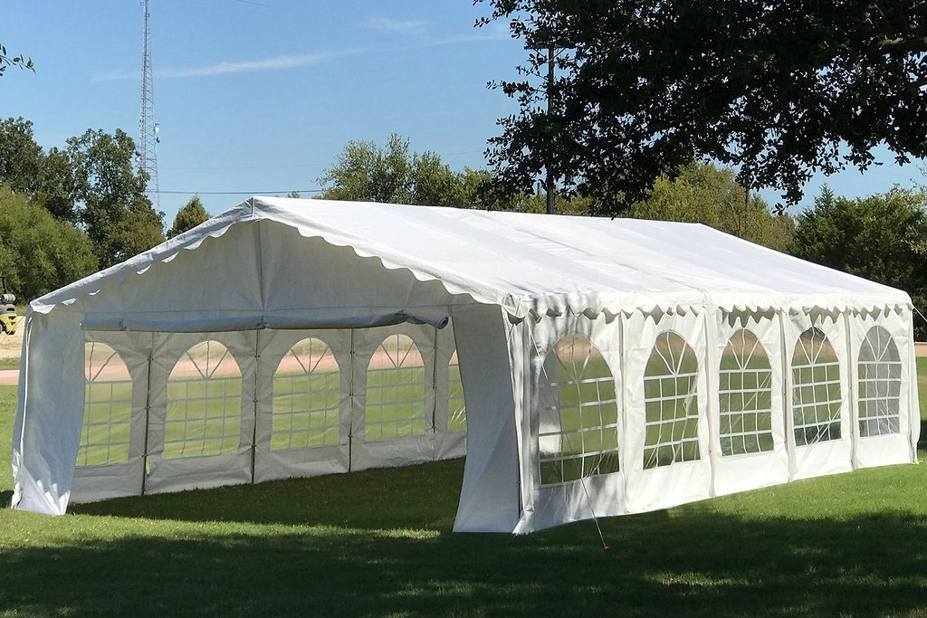 32 X 16 Budget Tent Gazebo Pe Canopy Waterproof Top