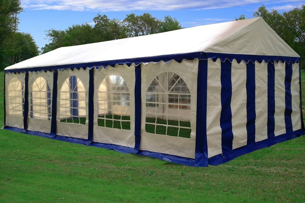 32 X 16 Striped Party Tent Canopy Gazebo 4 Colors Red