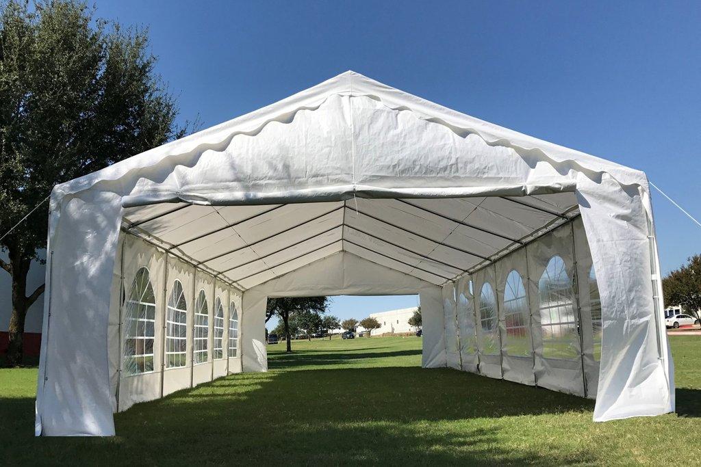40 X 16 Budget Tent Gazebo Pe Canopy Waterproof Top