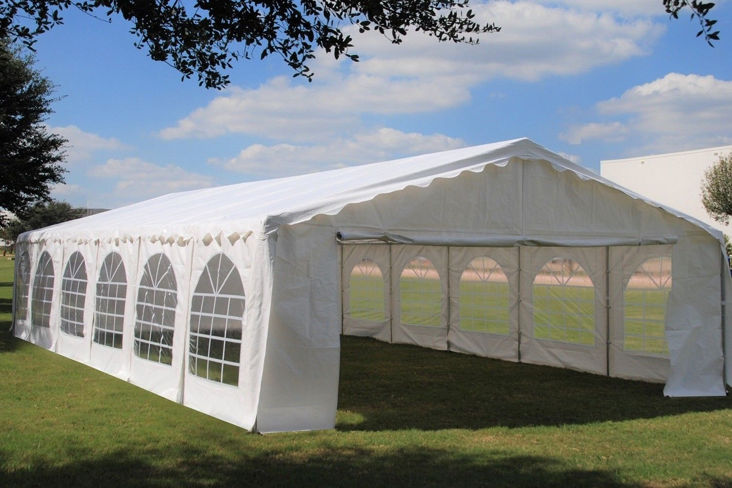 40 X 20 Budget Party Tent Canopy Gazebo White