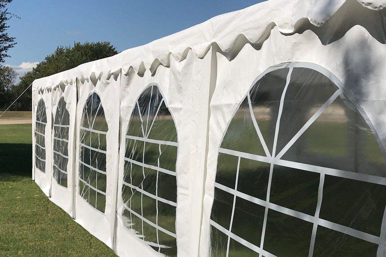 40 X 20 Budget Party Tent Canopy Gazebo White